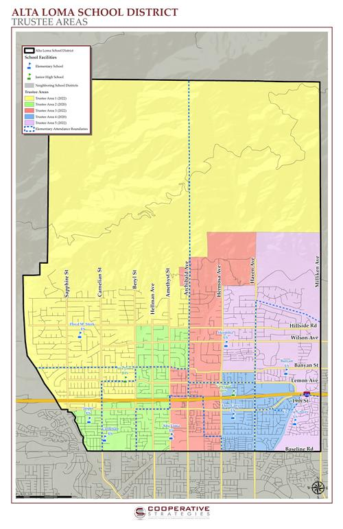 Trustee Areas Map