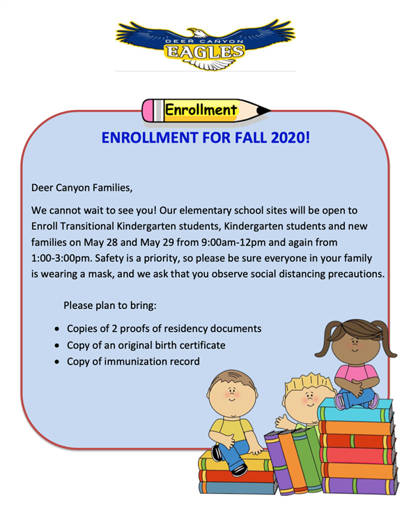 Enrollment for Fall 2020